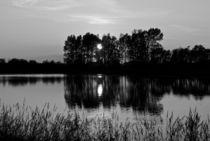 Sunset Lake by John Ellis
