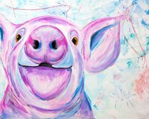 Be a pig is nice, the luck pig by Annett Tropschug