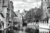 Canal Reflections in Bruges by John Rizzuto