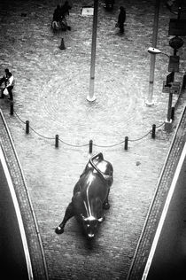 A Bull on Wall Street 1990s by John Rizzuto