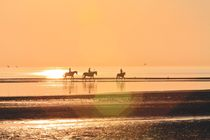 Horseback Riding into the Sunset by Udo Behrends