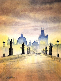 Charles Bridge Prague by bill holkham
