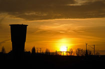 Urbaner Sonnenuntergang von caladoart