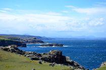 Meer Klippen Schottland von caladoart