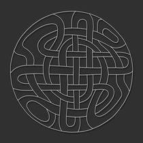 Celtic Mandala - white design by themandalalady