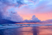 Playa Grande Sunset and Storm Clouds von Barbara Magnuson & Larry Kimball
