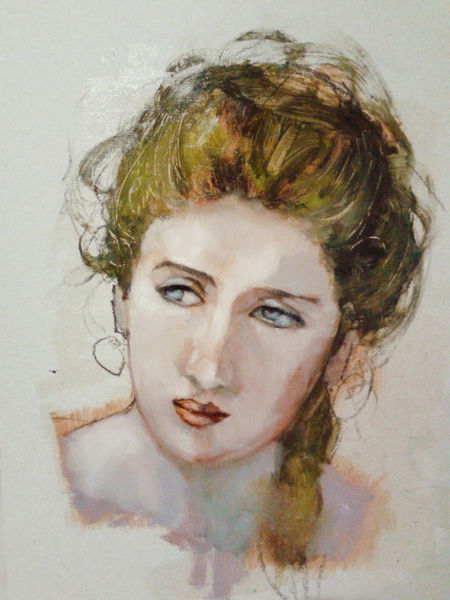 &quot;portrait&quot; Painting art prints and posters by <b>david chevalier</b> - ARTFLAKES. - 20130418-210734