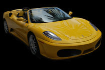Yellow-ferrari-sports-car