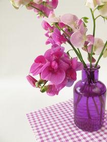 Ein Strauß Wicken in einer Vase by Heike Rau