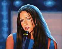 Alanis Morissette painting by Paul Meijering