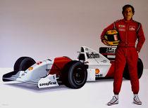 Ayrton Senna painting by Paul Meijering