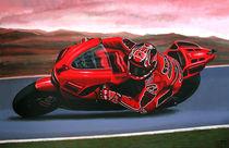 Casey Stoner on Ducati painting von Paul Meijering
