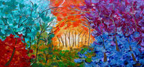 Abstract Landscape Painting von Julia Fine Art