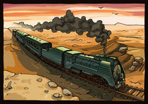 Steam Locomotive by Oleksiy Tsuper
