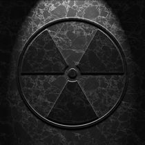 Radioactive Symbol Black Marble Texture von Brian Carson