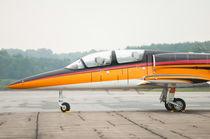 Black, Orange Airplane von digidreamgrafix