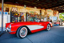 Route 66 - Corvette at Hackberry General Store by Dominik Wigger