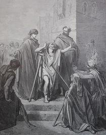 9441s - Petrus und Johannes heilen - Peter and John heal by stiche. biz