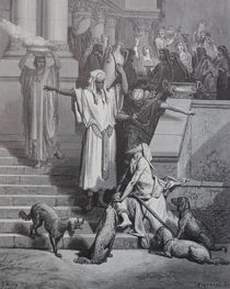 9455s - Lazarus und der Reiche - Lazarus and the rich man von stiche. biz
