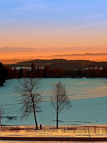 'Sonnenuntergang an Winterlandschaft | Landschaftsfotografie' by Patrick Jobst