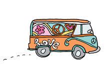Volkswagenbusje-hippie