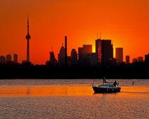 Sunset Sail Ashbridges Bay Toronto Canada by Brian Carson