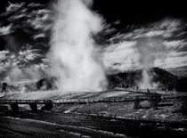 Old Faithful in Black and White by Ken Dvorak