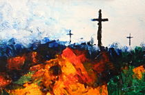 Three Wooden Crosses by Kume Bryant