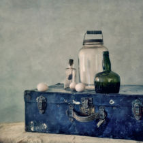 the blue suitcase/der blaue koffer by Priska  Wettstein