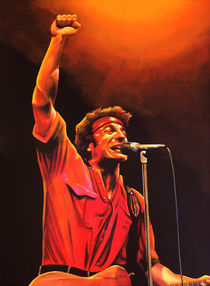 Bruce Springsteen painting by Paul Meijering