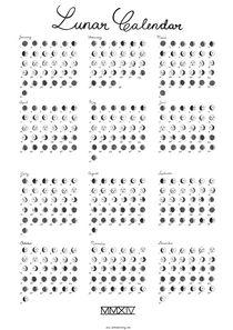 Lunar Calendar 2014 von Saskia Pomeroy