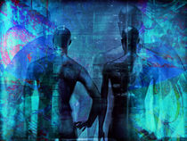Blue men by Gabi Hampe
