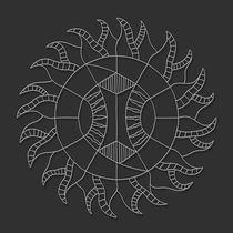 Shine On Mandala - White Design by themandalalady