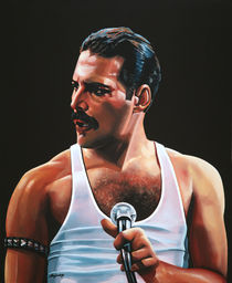 Freddy Mercury painting von Paul Meijering