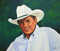 George Strait painting by Paul Meijering