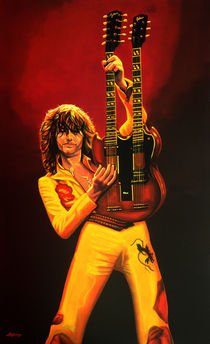 Jimmy Page painting von Paul Meijering