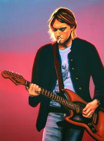 Kurt Cobain of Nirvana painting von Paul Meijering