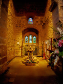 Interior of St Andrews Church, Corbridge by Louise Heusinkveld
