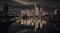 Skyline at night (Frankfurt / Main) von Andreas Sachs