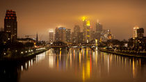 Skyline at night (Frankfurt / Main) by Andreas Sachs