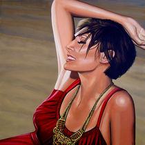 Natalie Imbruglia painting  by Paul Meijering