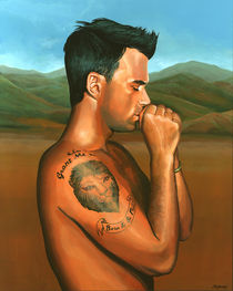 Robbie Williams painting 2 von Paul Meijering