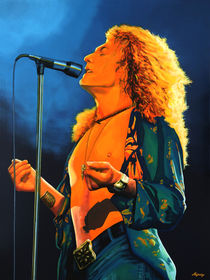 Robert Plant painting  by Paul Meijering