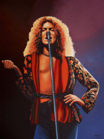 Led Zeppelin Robert Plant painting by Paul Meijering