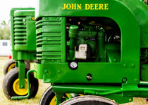 John Deere Model L With Model G Behind by Jon Woodhams