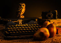Still LIfe - Pears and Typewriter by Jon Woodhams