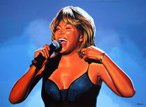 Tina Turner painting by Paul Meijering