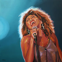 Queen of Rock Tina Turner painting by Paul Meijering