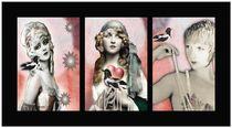 Vintage Beauties Triptych von Carolyn Slattery