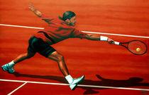 Roger Federer painted by Paul Meijering